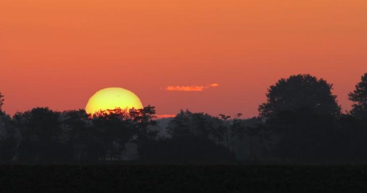 Venustransit Sonnenaufgang
