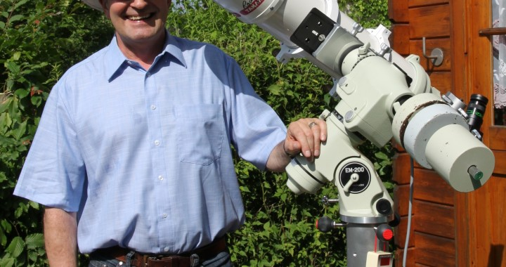 Wolfgang Bodenmüller and his telescope