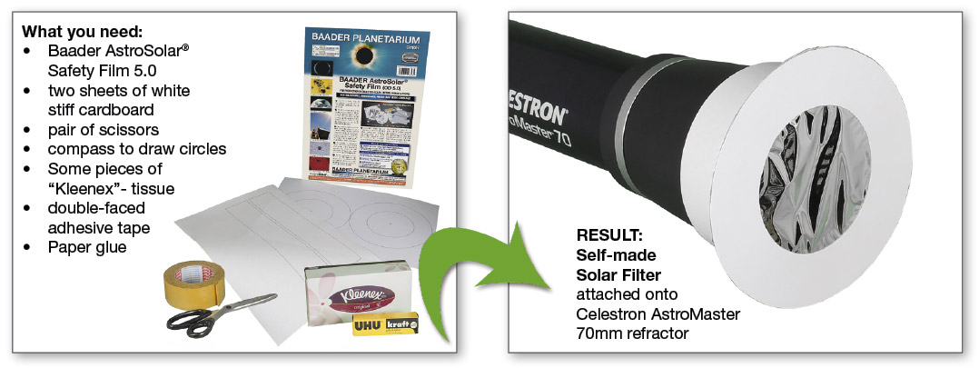 how to make your own objective solar filter - astrosolar.com