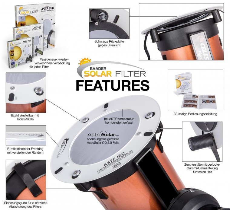 Baader Solar Filter Features